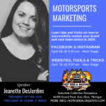 Crank It Media President Jeanette DesJardins to Speak during Hot Rod & Racing Expo